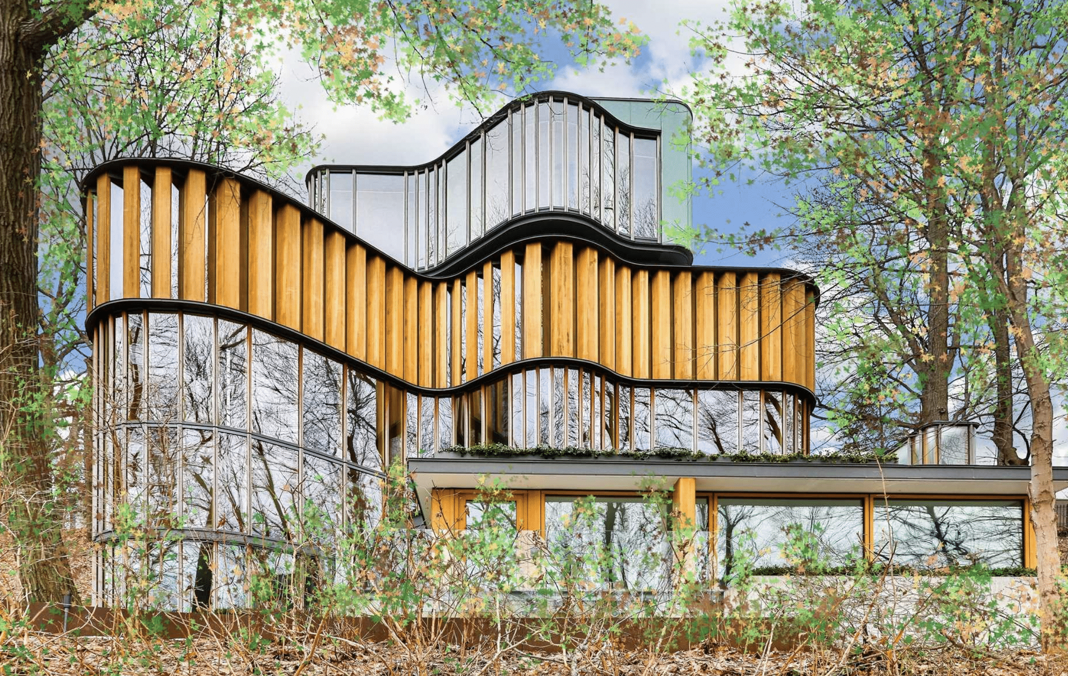 An exterior view of Integral House