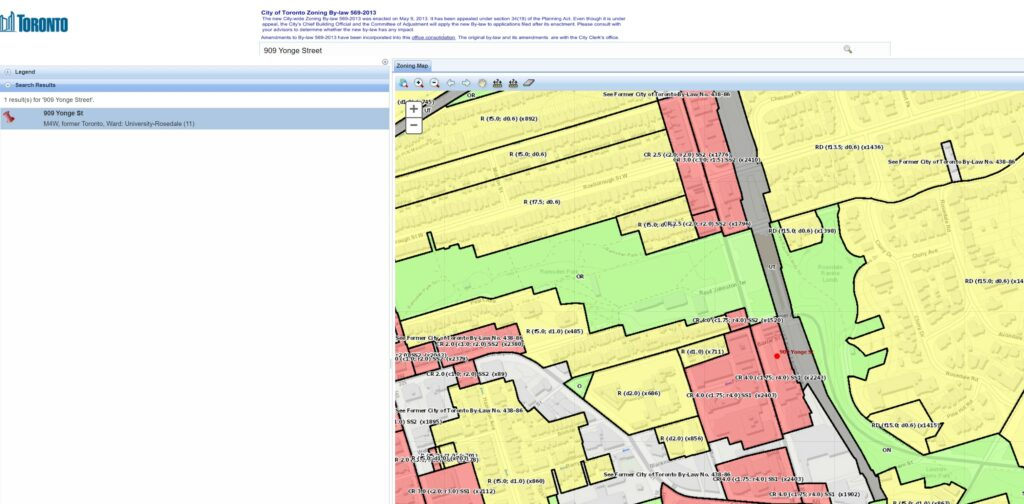 City of Toronto Zoning By-Law Interactive Map